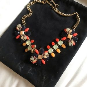 J.Crew Falling Leaves Statement Necklace